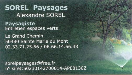 Carte de visite Paysagiste SOREL